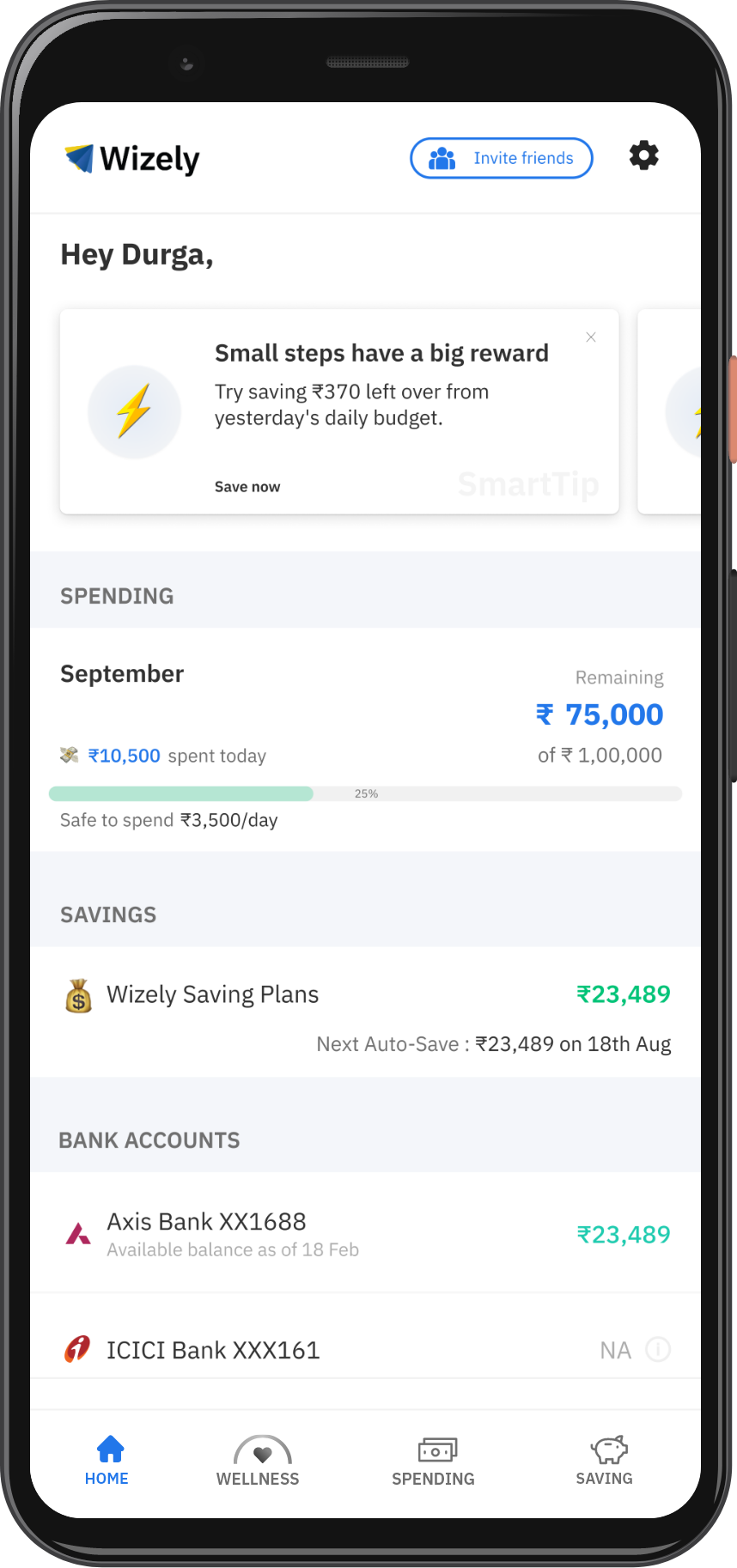 Use Wizely to make smarter financial decisions
